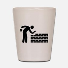 Bricklayer Shot Glass