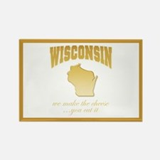 """""""Wisconsin/Cheese"""" Rectangle Magnet"""