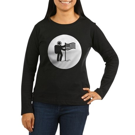 Astronaut Women's Long Sleeve Dark T-Shirt