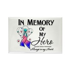 In Memory Thyroid Cancer Rectangle Magnet