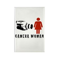 """""""Camera Woman"""" Rectangle Magnet by TJP"""