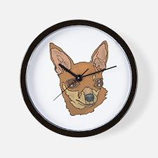 Chihuahua Head Wall Clock