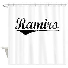 Ramiro, Aged, Shower Curtain