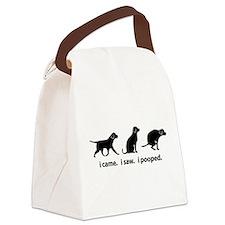 I Came. I Saw. I Pooped Funny Dog Canvas Lunch Bag