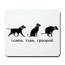 I Came. I Saw. I Pooped Funny Dog Mousepad