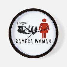 """""""Camera Woman"""" Wall Clock by TJP"""
