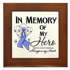 In Memory Stomach Cancer Framed Tile