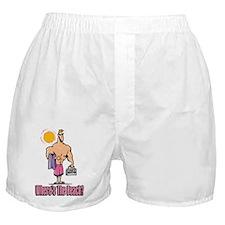 Where's The Beach Boxer Shorts