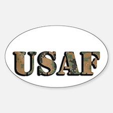 USAF (Camo) Oval Decal