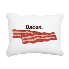 Bacon. Bacon. Bacon. Rectangular Canvas Pillow