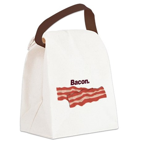 Bacon. Bacon. Bacon. Canvas Lunch Bag