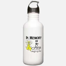 In Memory Hero Sarcoma Water Bottle