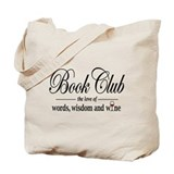 Books wine Totes & Shopping Bags