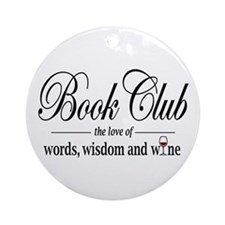 Book Club Ornament (Round)