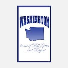 """Washington/Bigfoot"" Rectangle Decal"