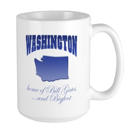 """Washington/Bigfoot"" Large Mug"