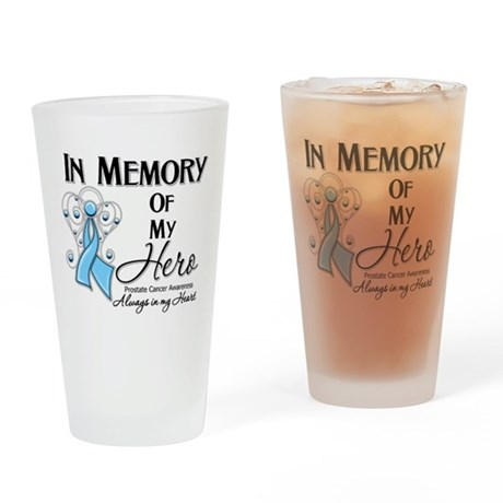 In Memory Prostate Cancer Drinking Glass