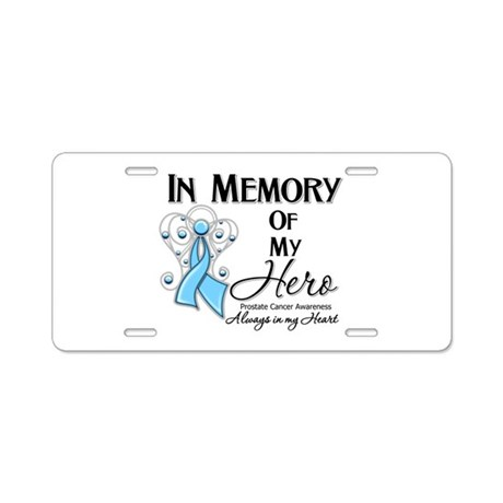 In Memory Prostate Cancer Aluminum License Plate