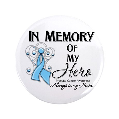 """In Memory Prostate Cancer 3.5"""" Button"""