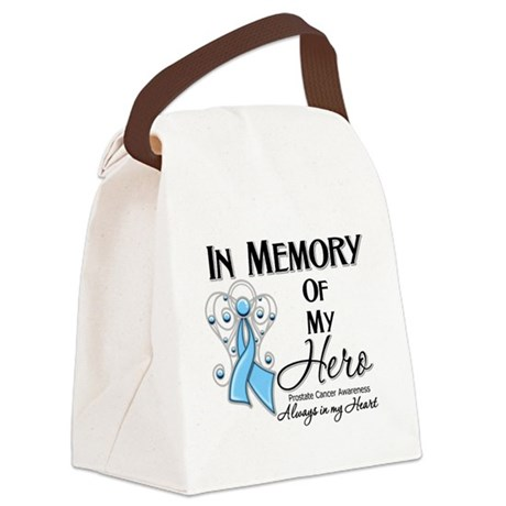 In Memory Prostate Cancer Canvas Lunch Bag