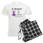 In Memory Pancreatic Cancer Men's Light Pajamas