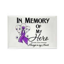 In Memory Pancreatic Cancer Rectangle Magnet