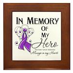 In Memory Pancreatic Cancer Framed Tile