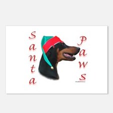 Santa Paws Doberman Postcards (Package of 8)