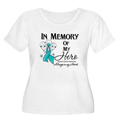 In Memory Ovarian Cancer Women's Plus Size Scoop N