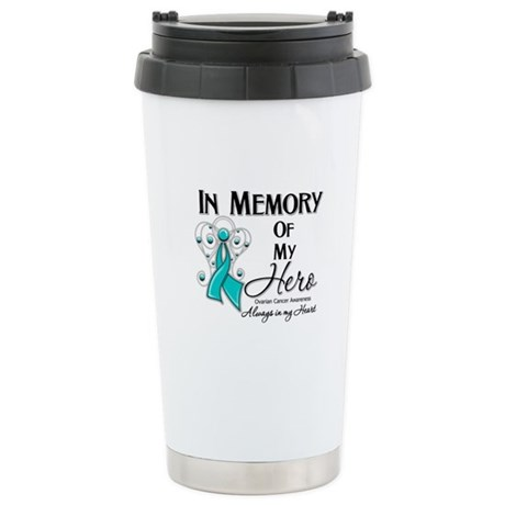 In Memory Ovarian Cancer Stainless Steel Travel Mu