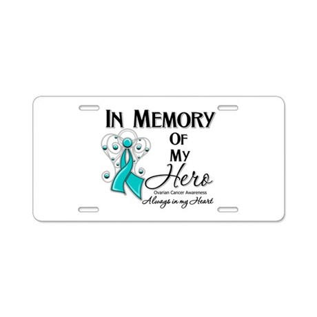 In Memory Ovarian Cancer Aluminum License Plate