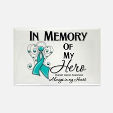 In Memory Ovarian Cancer Rectangle Magnet