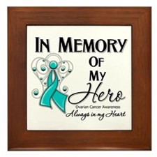 In Memory Ovarian Cancer Framed Tile