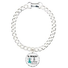 In Memory Ovarian Cancer Charm Bracelet, One Charm