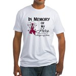 In Memory Multiple Myeloma Fitted T-Shirt