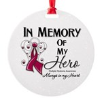 In Memory Multiple Myeloma Round Ornament