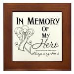 In Memory Mesothelioma Framed Tile