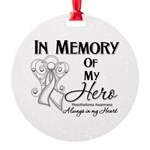 In Memory Mesothelioma Round Ornament
