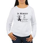 In Memory Hero Melanoma Women's Long Sleeve T-Shir