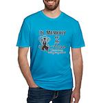 In Memory Hero Melanoma Men's Fitted T-Shirt (dark