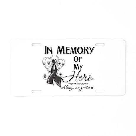 In Memory Hero Melanoma Aluminum License Plate