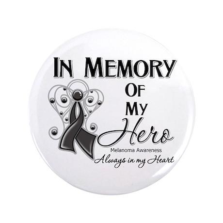 "In Memory Hero Melanoma 3.5"" Button (100 pack)"