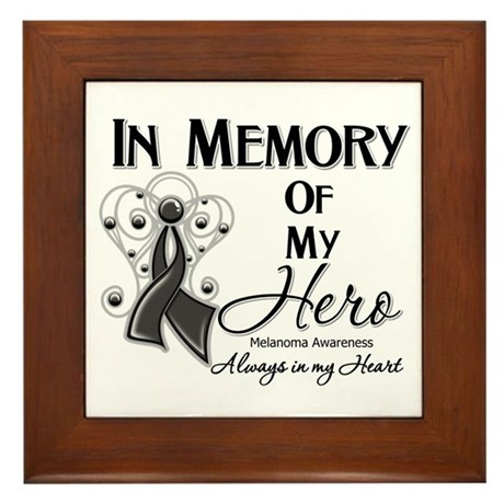In Memory Hero Melanoma Framed Tile
