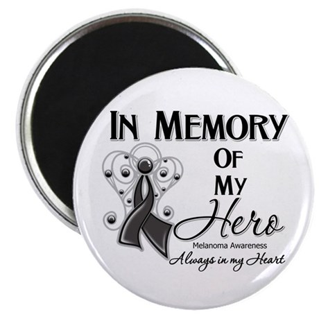 "In Memory Hero Melanoma 2.25"" Magnet (100 pack)"