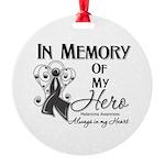 In Memory Hero Melanoma Round Ornament