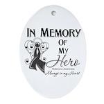 In Memory Hero Melanoma Ornament (Oval)