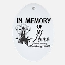 In Memory Hero Melanoma Ornament (Oval)