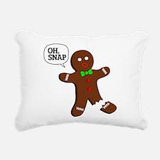 oH Snap, Gingerbread Man Rectangular Canvas Pillow