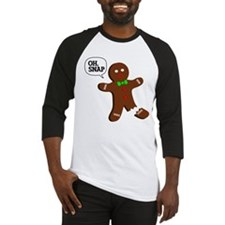 oH Snap, Gingerbread Man Baseball Jersey