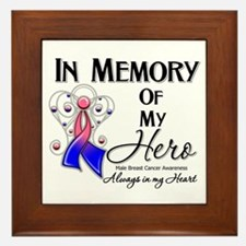 In Memory Male Breast Cancer Framed Tile